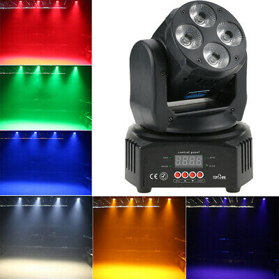 Tomshine 60W Moving Head Stage Lighting LED RGBW+Amber+UV 6IN1 Wash Effect Light