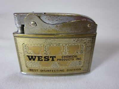 West Chemical Products Lighter Omscolite Vintage WORKS Flat Advertising