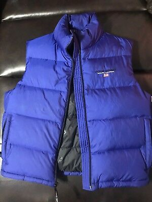 VTG RALPH LAUREN POLO SPORT DOWN PUFFER VEST MENS SIZE MEDIUM  Blue 90s