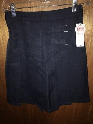 9b1cd66ae French Toast Uniform Skirt/Skort Junior Girls Size 3 Navy Blue 2 Tab Scooter  NWT