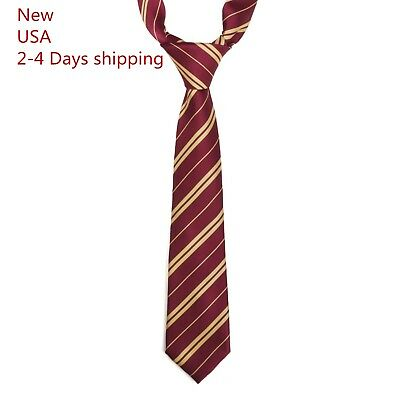 Harry Potter Neck Tie Cosplay Gryffindor Slytherin Ravenclaw Hufflepuff Costume