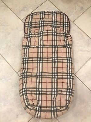 "Authentic Burberry Nova Check Foot Muff Stroller Car Seat Cover Baby 32"" X 16"""