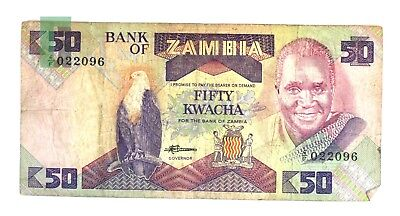 Bank of Zambia 50 Fifty Kwacha Paper Currency Note