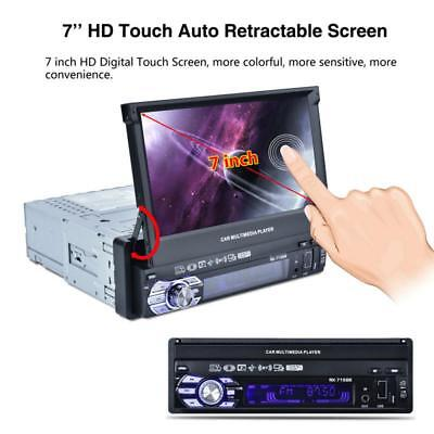 """7"""" Touch Screen 1DIN  Bluetooth Car Stereo MP5 MP3 Player FM Radio USB/TF/AUX US"""