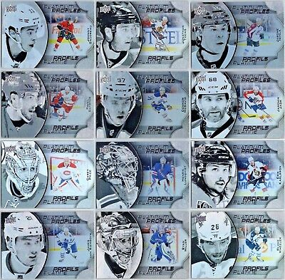 2016-17 Ud Tim Hortons Platinum Profiles Insert Cards - Pick Singles -Finish Set