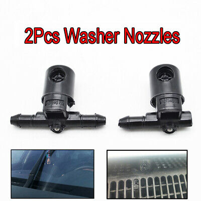 2PCS Front Windscreen Wiper Washer Nozzle Jet Fit For Opel Insignia A 2008-2017