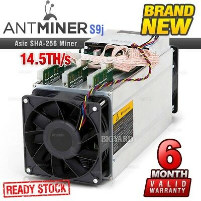 New BITMAIN Antminer S9j 14.5TH/s SHA-256 ASIC Bitcoin Cash Cryptocurrency Miner