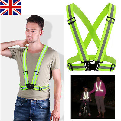 Adjustable Reflective Vest High Visibility Safety Strap Outdoor Cycling Walk Run