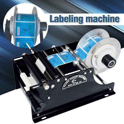 New Manual Labeler Semi-automatic Round Bottle Labeling Machine Packing US Stock