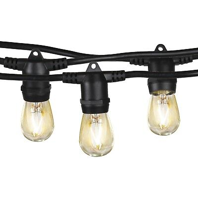 Brightech Ambience Pro LED, Outdoor String Lights- Patio Lighting: Heavy Duty, W