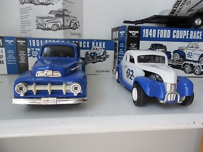 Ertl  Collectibles Die-cast 1951 Ford F-1 and 1940 Ford coupe and trailer