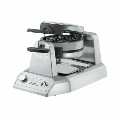 Waring Double Electric Waffle Maker WW200K Stainless Steel Silver Colour