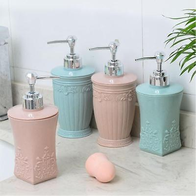 Bathroom Pump Liquid Soap Dispenser Shower Kitchen Lotion Shampoo Bottle Jars