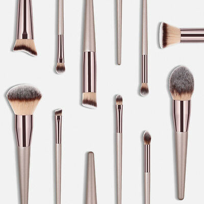 Women Wooden Foundation Cosmetic Eyebrow Eyeshadow Brush Makeup Brush Set Tool U