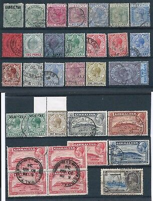 Gibraltar 1896-1935 Selection Mint Hinged & Used High CV