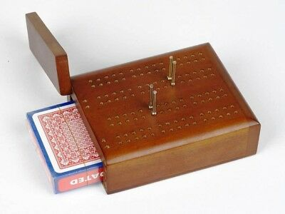 Dal Rossi Travel Cribbage Wood / With Play Cards
