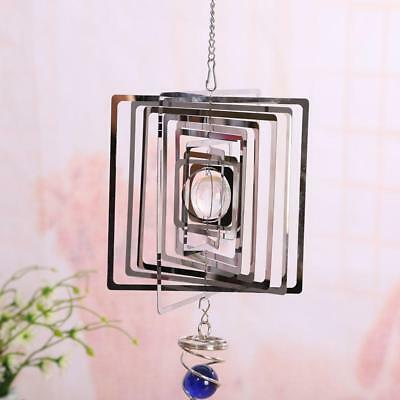 Metal Wind Spinner Stainless Steel Mirror Mobile Wind Chime Garden Ornament