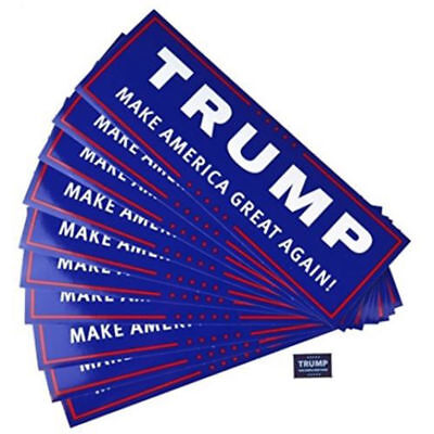 10pcs Donald Trump for President Make America Great Again 2020 Bumper Stickers