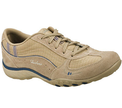 NEU SKECHERS DAMEN Sneakers BREATHE EASY JUST RELAX Beige