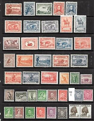 1927 - 66 Australia Pre-Decimal  Selection x 129 stamps  Mint Never Hinged