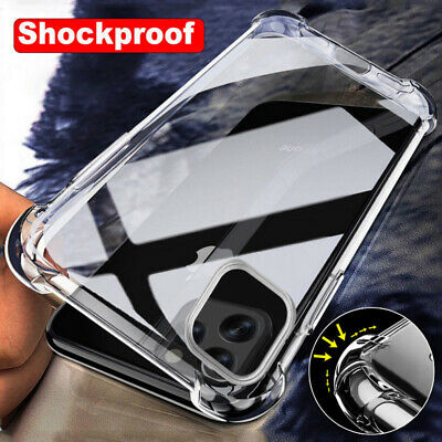 Shockproof Bumper Transparent Clear Gel Case For iPhone XS Max XR 8 7 6S 6 Cover