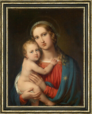 """Old Master-Art Antique Oil Painting Portrait Virgin Mary on canvas 30""""x40"""""""