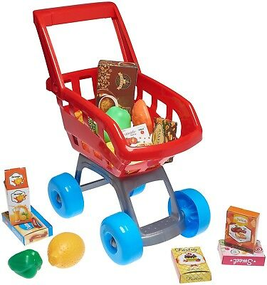 Play Shopping Cart SuperMarket Pretend Toy Kids Shop Cash Register Bday Gift