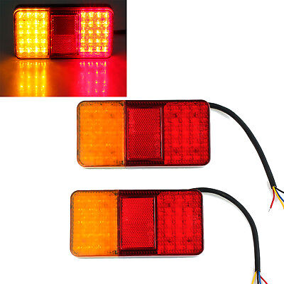 2x TRAILER LIGHTS 40 LED STOP TAIL INDICATOR REFLECTOR TRUCK CAMPER LIGHT 12V AU