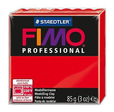 NEW FIMO PROFESSIONAL 85g POLYMER MODELLING - MOULDING OVEN BAKE CLAY Red