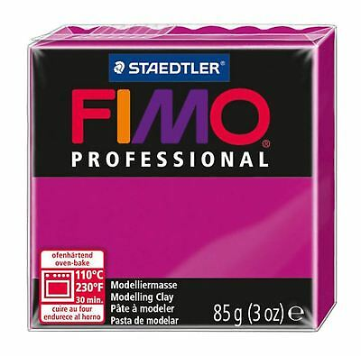 NEW FIMO PROFESSIONAL 85g POLYMER MODELLING - MOULDING OVEN BAKE CLAY Magenta