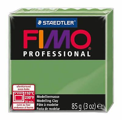 FIMO PROFESSIONAL POLYMER MODELLING OVEN BAKE CLAY 85g Leaf Green