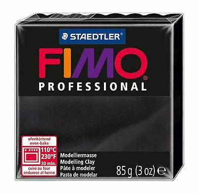 FIMO PROFESSIONAL POLYMER MODELLING OVEN BAKE CLAY 85g Black