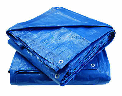 Heavy Duty Waterproof Tarpaulin Camping Ground Sheet Tarp Protector Cover Eyelet
