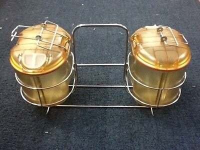Beckman Coulter JS-5.0 Rotor J-Wide Cups Containers Buckets (2) w/ Storage Rack