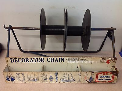 Vintage Campbell Chain Company Decorator Chain Display