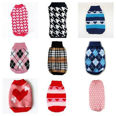 Cute Knitted Dog Jumper Pet Clothes Sweater For Small To Medium Dogs 14 Styles
