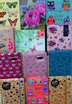 DIARIES 2019, GREAT MIX OF 12 DIFFERENT STYLES, JUST 99p, SUPER QUALITY AND MIX