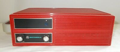 Vintage Red Motorola Alert Monitor Fire EMT Ambulance Radio Vintage