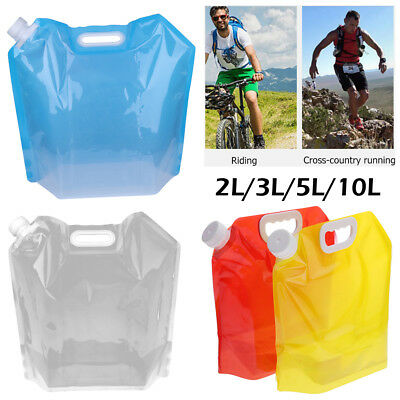10L Collapsible Foldable Drinking Water Bag Outdoor Car Water Carrier Container