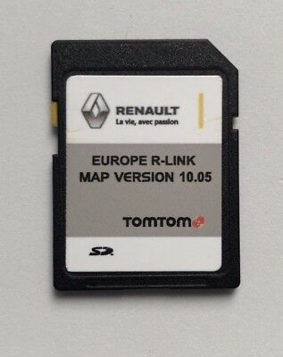 RENAULT R LINK TOMTOM MAP NAVIGATION SD CARD 2018 2019 EUROPE R-LINK 10.05 new