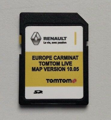RENAULT Carminat TOMTOM LIVE Europe 10.05 + UK MAP 2018/2019 SD Card LATEST NEW