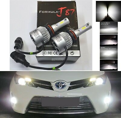 LED Kit N2 72W 9012 HIR2 6000K White Two Bulbs Head Light Dual Beam Replacement