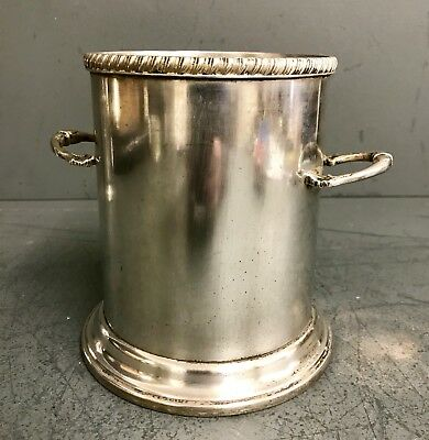 Antique Heavy EPNS SILVER PLATE WINE Champagne - BOTTLE HOLDER COASTER