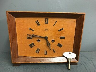 Original 1930's Art Deco 'Smiths Enfield' Striking Mantel Clock FULLY WORKING
