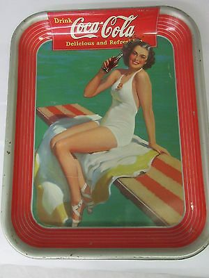 Authentic Coke Coca Cola 1939  Advertising Serving Tin Tray   M-561