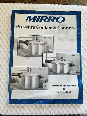 Mirro Pressure Cooker & Canners Instructions Manual & Recipe Book 4.2, 6, 8 Qts