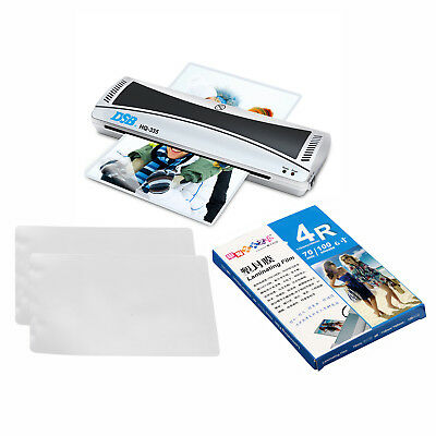Quality 220V A3 Hot&Cold Roll Laminator Machine 335mm &100 Sheets 4R Laminating