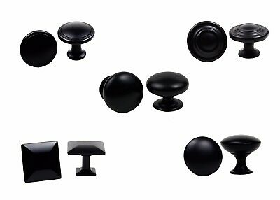 Knobs Handles Pulls Kitchen Cabinet Hardware Collection in Matte Black by KPT