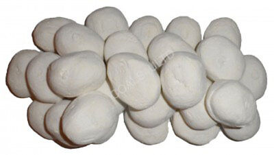 30 White Gas Fire Replacement Pebbles Coals Stones 60Mm Living Flame Made In Uk