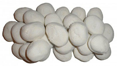 40 White Gas Fire Replacement Pebbles Coals Stones 60Mm Living Flame Made In Uk